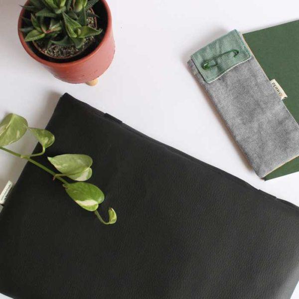 vegan custom laptop sleeve