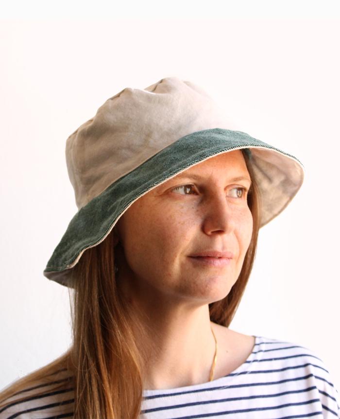 Beach bucket hat City bucket hat Personalised white green bucket hat Women bucket hat Cotton bucket hat Bucket hat Summer bucket hat