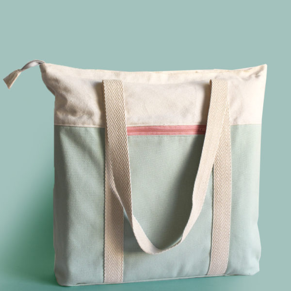 salvia tote bag pink recycled