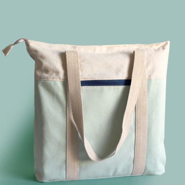 salvia blue tote recycled