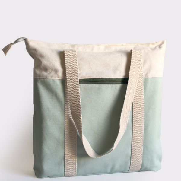 salvia tote bag khaki recycled